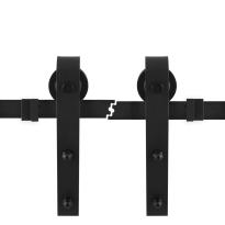 GPF050A.61 schuifdeursysteem Model A zwart 2 x 100 cm schuifdeurrail