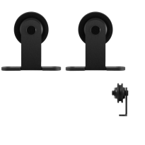 GPF0510.61 schuifdeurhanger set Osa zwart t.b.v. extra deur