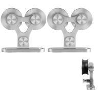 GPF0516.09 schuifdeurhanger set Twin RVS t.b.v. extra deur