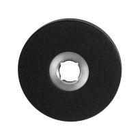 GPF8100.05 rozet 50x6mm zwart