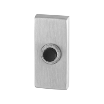 GPF9826.01 deurbel rechthoekig 70x32x10 mm RVS geborsteld