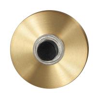 GPF9826.09P4 beldrukker rond 50x8 mm PVD mat messing