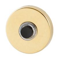 GPF9926.69 deurbel rond 50x8 mm PVD messing