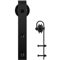 GPF0500.61 single sliding door hanger Lanka black