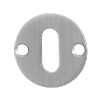 GPF0901.07 keyhole escutcheon 38x2mm satin stainless steel