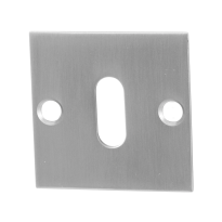 GPF0901.08 keyhole escutcheon 50x50x2mm satin stainless steel