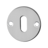 GPF0901.46 keyhole escutcheon 50x2mm polished stainless steel