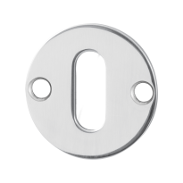 GPF0901.47 keyhole escutcheon 38x2mm polished stainless steel
