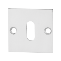 GPF0901.48 keyhole escutcheon 50x50x2mm polished stainless steel
