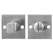 GPF0904.08 Turn and Release set 50x50x2mm satin stainless steel