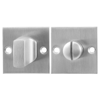 GPF0910.08 Turn and Release set 50x50x2mm satin stainless steel