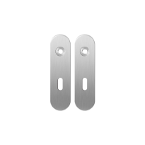 GPF1100.10 short backplate rounded lock 56 satin stainless steel