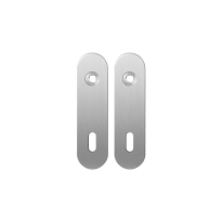 GPF1100.10 short backplate rounded lock 72 satin stainless steel