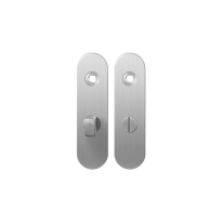 GPF1100.10 short backplate rounded bathroom 57/5 normal knob satin stainless steel
