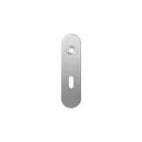 GPF1100.10R short backplate rounded lock 56 right handed satin stainless steel