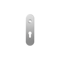 GPF1100.10R short backplate rounded 55PZ right handed satin stainless steel