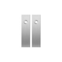 GPF1100.15 short backplate rectangular blind satin stainless steel