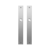 GPF1100.28 flat backplate rectangular blind satin stainless steel