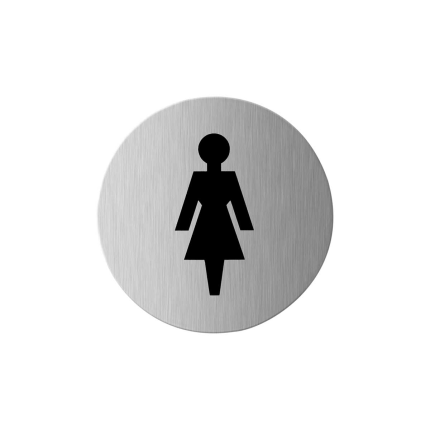 GPF0400.09 RVS pictogram 'Dames'