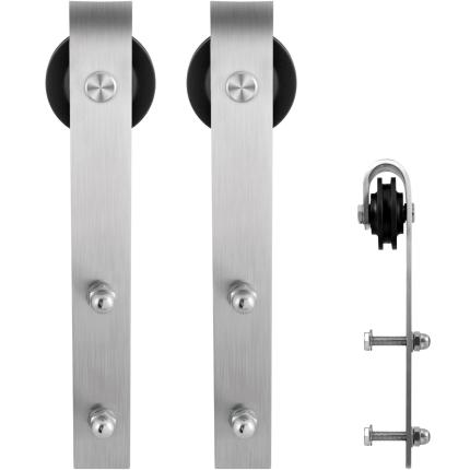 GPF0500.09 schuifdeurhanger set Lanka RVS t.b.v. extra deur