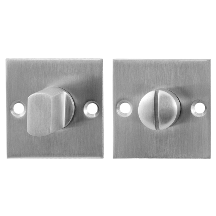 GPF0903.08 toiletgarnituur 50x50x2mm stift 8mm RVS geborsteld