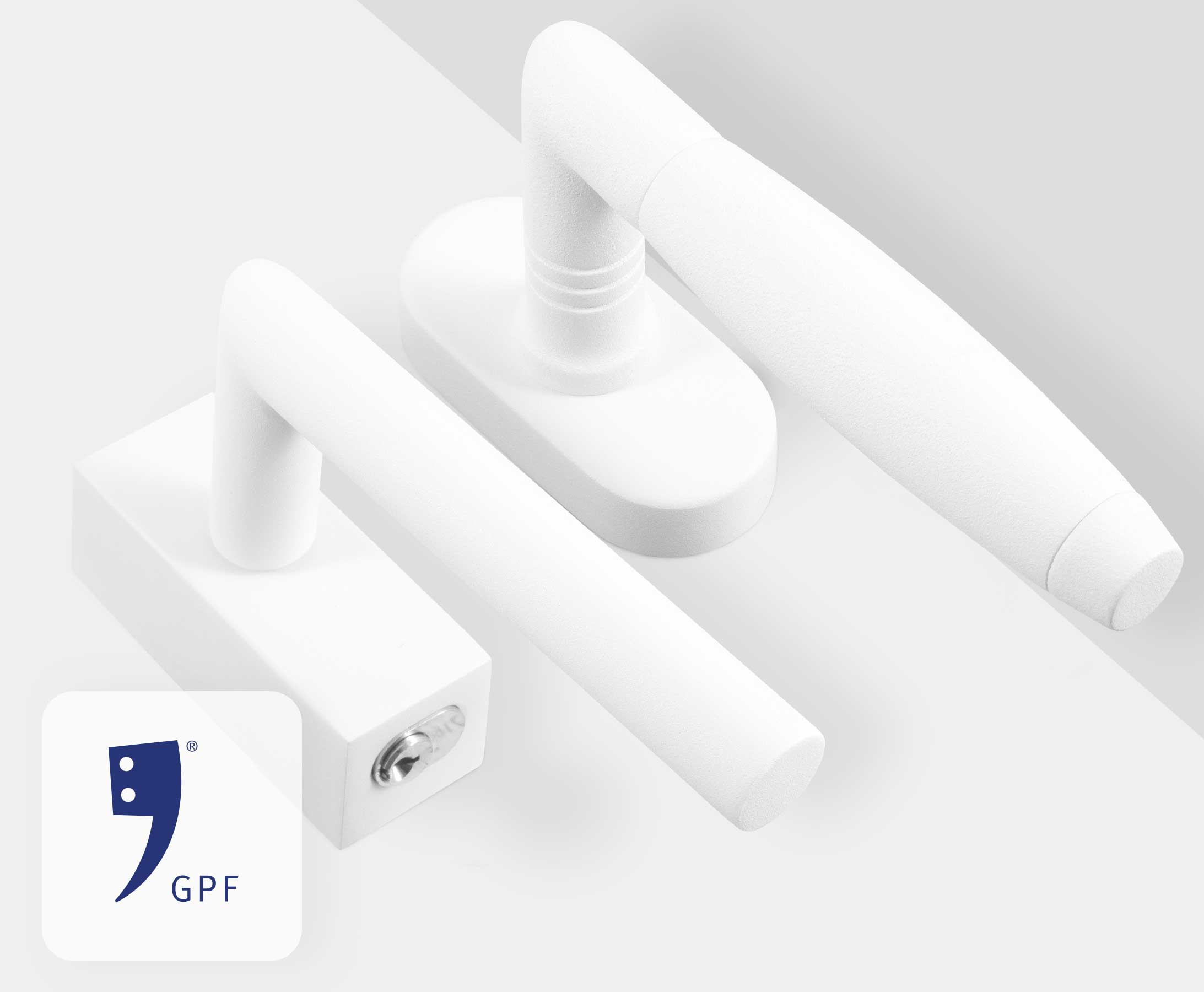 Turn and tilt fittings in white