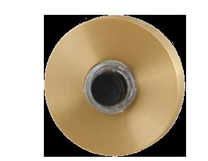 GPF doorbells in PVD satin brass