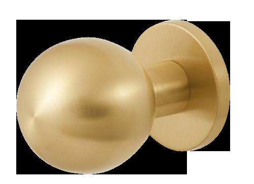 GPF front door knobs in PVD satin brass