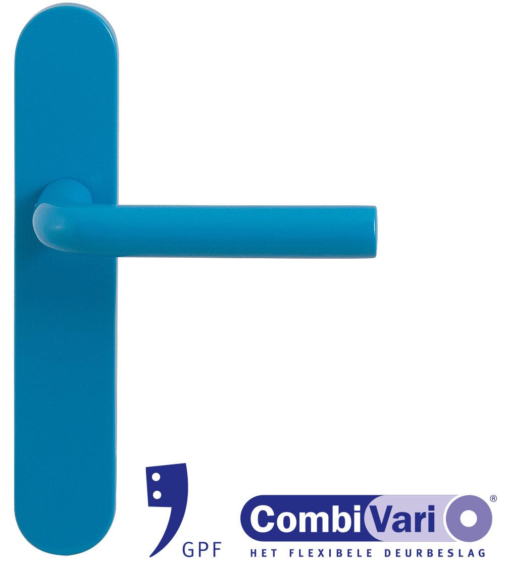 GPF Combivari                 blue door handle on plate